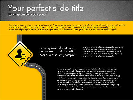 Road and Signs Concept, Slide 9, 03310, Shapes — PoweredTemplate.com