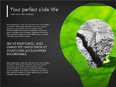 Green Presentation Concept with Data Driven, Slide 14, 03312, Presentation Templates — PoweredTemplate.com