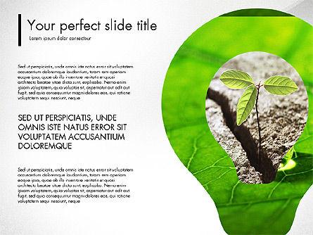 Green Presentation Concept with Data Driven, Slide 6, 03312, Presentation Templates — PoweredTemplate.com