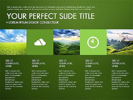 Green Infographics, Slide 10, 03315, Infographics — PoweredTemplate.com