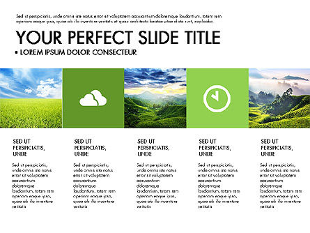 Green Infographics, Slide 2, 03315, Infographics — PoweredTemplate.com