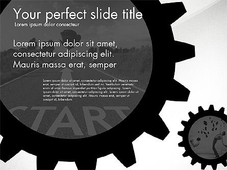 Cogwheel Gears Presentation Concept, 03317, Presentation Templates — PoweredTemplate.com