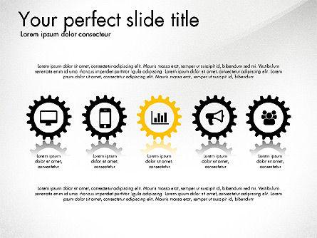 Cogwheel Gears Presentation Concept, Slide 2, 03317, Presentation Templates — PoweredTemplate.com