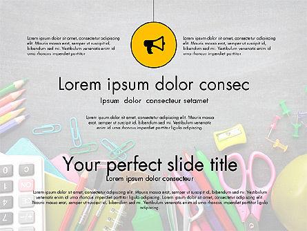 Office Supply Presentation Concept, Slide 13, 03320, Presentation Templates — PoweredTemplate.com