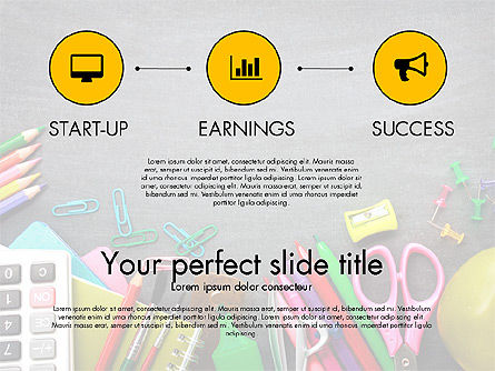 Office Supply Presentation Concept, Slide 9, 03320, Presentation Templates — PoweredTemplate.com