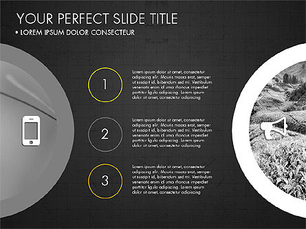 Rounded Presentation Concept, Slide 16, 03321, Shapes — PoweredTemplate.com