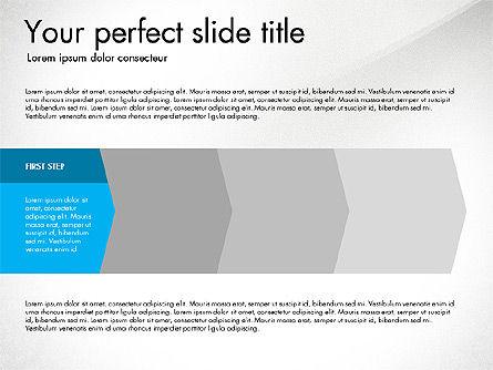 Four Step Process Presentation Concept, 03322, Process Diagrams — PoweredTemplate.com