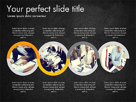 Four Step Process Presentation Concept, Slide 10, 03322, Process Diagrams — PoweredTemplate.com