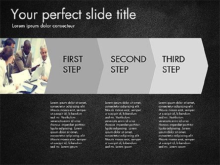 Four Step Process Presentation Concept, Slide 11, 03322, Process Diagrams — PoweredTemplate.com