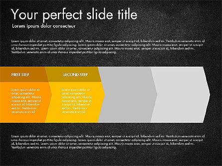 Four Step Process Presentation Concept, Slide 12, 03322, Process Diagrams — PoweredTemplate.com