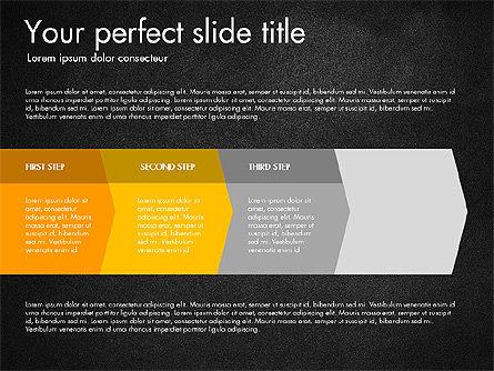 Four Step Process Presentation Concept, Slide 14, 03322, Process Diagrams — PoweredTemplate.com