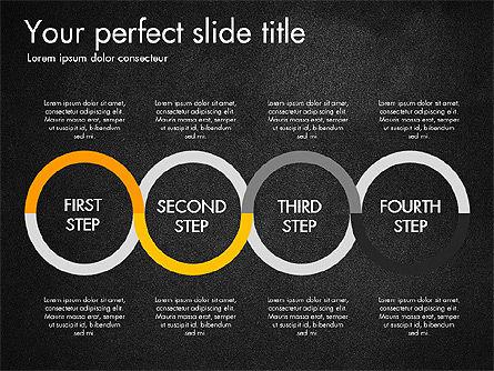Four Step Process Presentation Concept, Slide 15, 03322, Process Diagrams — PoweredTemplate.com
