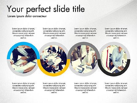 Four Step Process Presentation Concept, Slide 2, 03322, Process Diagrams — PoweredTemplate.com