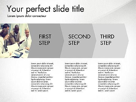 Four Step Process Presentation Concept, Slide 3, 03322, Process Diagrams — PoweredTemplate.com