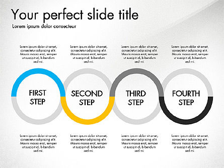 Four Step Process Presentation Concept, Slide 7, 03322, Process Diagrams — PoweredTemplate.com
