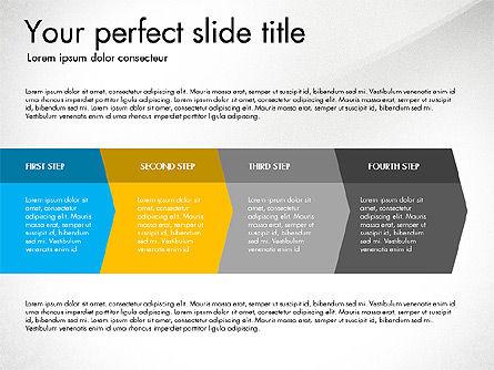 Four Step Process Presentation Concept, Slide 8, 03322, Process Diagrams — PoweredTemplate.com