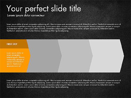 Four Step Process Presentation Concept, Slide 9, 03322, Process Diagrams — PoweredTemplate.com