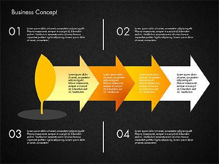 Growth Process Concept Diagram, Slide 13, 03323, Process Diagrams — PoweredTemplate.com