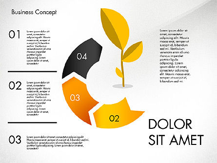 Growth Process Concept Diagram, Slide 3, 03323, Process Diagrams — PoweredTemplate.com
