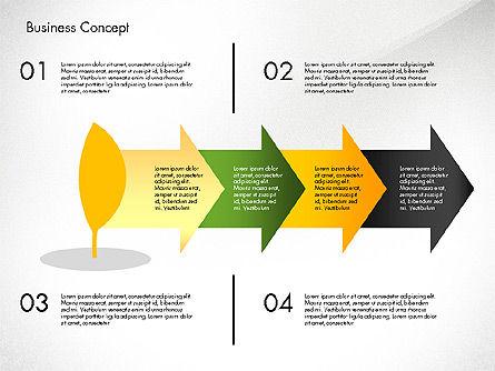 Growth Process Concept Diagram, Slide 5, 03323, Process Diagrams — PoweredTemplate.com