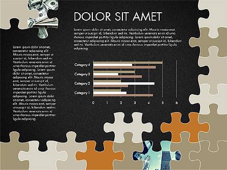 Yellow Puzzle Frame Presentation Concept, Slide 12, 03324, Puzzle Diagrams — PoweredTemplate.com
