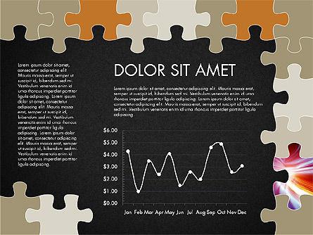 Yellow Puzzle Frame Presentation Concept, Slide 13, 03324, Puzzle Diagrams — PoweredTemplate.com
