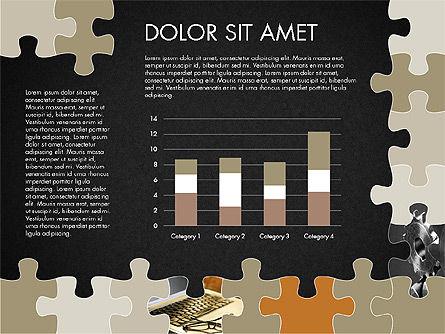Yellow Puzzle Frame Presentation Concept, Slide 14, 03324, Puzzle Diagrams — PoweredTemplate.com