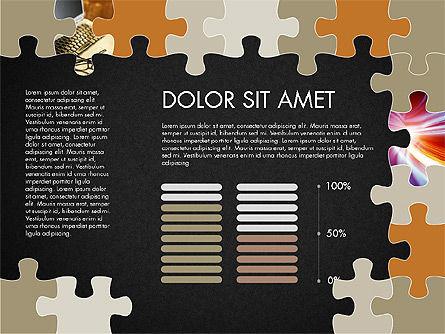 Yellow Puzzle Frame Presentation Concept, Slide 15, 03324, Puzzle Diagrams — PoweredTemplate.com