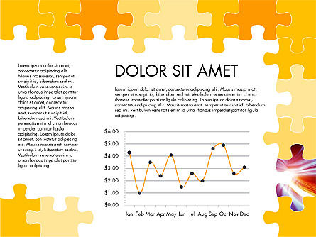 Yellow Puzzle Frame Presentation Concept, Slide 5, 03324, Puzzle Diagrams — PoweredTemplate.com