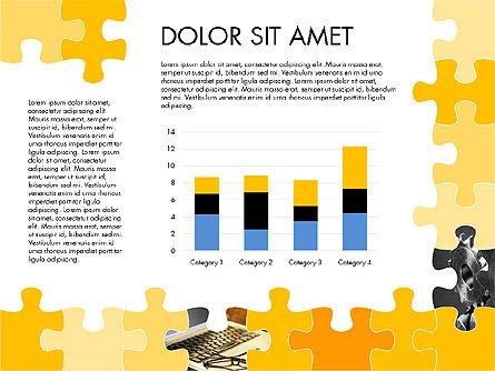 Yellow Puzzle Frame Presentation Concept, Slide 6, 03324, Puzzle Diagrams — PoweredTemplate.com
