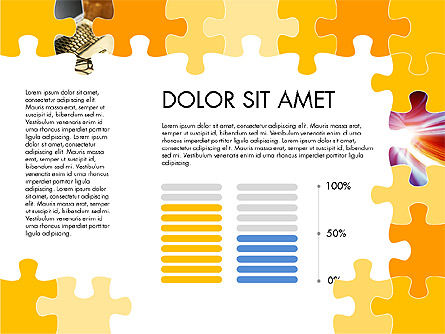 Yellow Puzzle Frame Presentation Concept, Slide 7, 03324, Puzzle Diagrams — PoweredTemplate.com