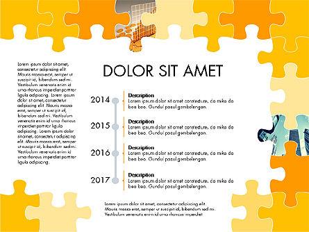 Yellow Puzzle Frame Presentation Concept, Slide 8, 03324, Puzzle Diagrams — PoweredTemplate.com