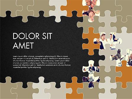 Yellow Puzzle Frame Presentation Concept, Slide 9, 03324, Puzzle Diagrams — PoweredTemplate.com
