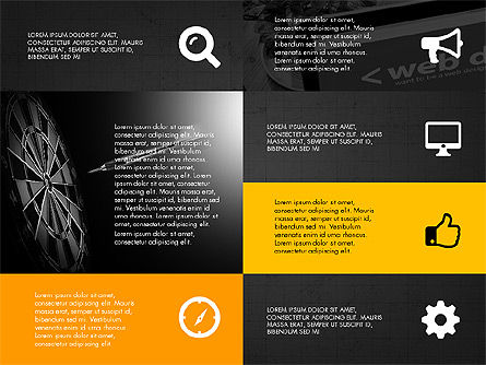 Grid Layout Design Presentation Concept, Slide 12, 03325, Presentation Templates — PoweredTemplate.com
