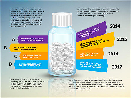 Jar of Pills Infographics, 03327, Stage Diagrams — PoweredTemplate.com