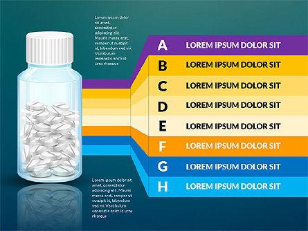 Jar of Pills Infographics, Slide 10, 03327, Stage Diagrams — PoweredTemplate.com