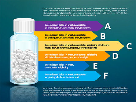 Jar of Pills Infographics, Slide 12, 03327, Stage Diagrams — PoweredTemplate.com