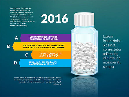 Jar of Pills Infographics, Slide 13, 03327, Stage Diagrams — PoweredTemplate.com