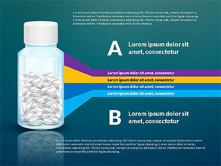 Jar of Pills Infographics, Slide 14, 03327, Stage Diagrams — PoweredTemplate.com