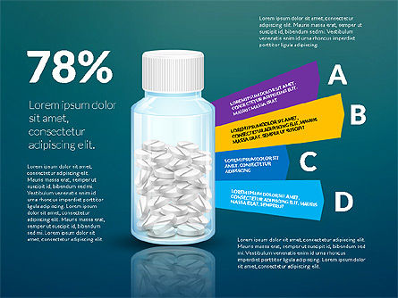 Jar of Pills Infographics, Slide 15, 03327, Stage Diagrams — PoweredTemplate.com