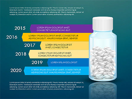 Jar of Pills Infographics, Slide 16, 03327, Stage Diagrams — PoweredTemplate.com