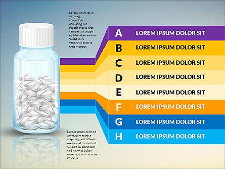 Jar of Pills Infographics, Slide 2, 03327, Stage Diagrams — PoweredTemplate.com