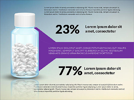 Jar of Pills Infographics, Slide 3, 03327, Stage Diagrams — PoweredTemplate.com