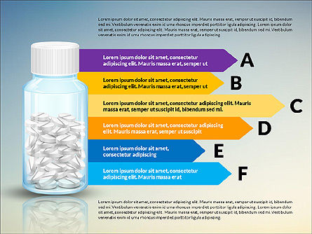 Jar of Pills Infographics, Slide 4, 03327, Stage Diagrams — PoweredTemplate.com