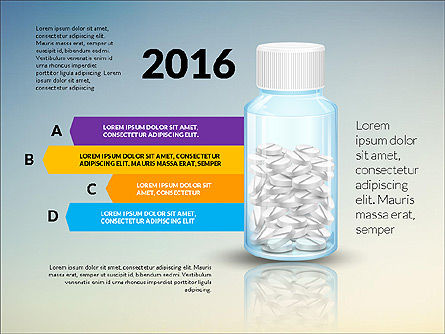 Jar of Pills Infographics, Slide 5, 03327, Stage Diagrams — PoweredTemplate.com