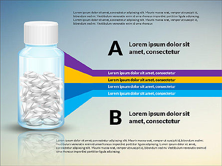 Jar of Pills Infographics, Slide 6, 03327, Stage Diagrams — PoweredTemplate.com