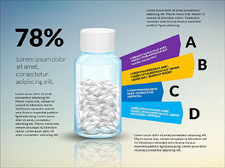 Jar of Pills Infographics, Slide 7, 03327, Stage Diagrams — PoweredTemplate.com