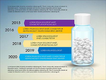 Jar of Pills Infographics, Slide 8, 03327, Stage Diagrams — PoweredTemplate.com
