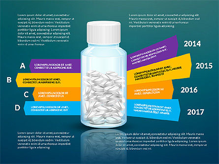 Jar of Pills Infographics, Slide 9, 03327, Stage Diagrams — PoweredTemplate.com