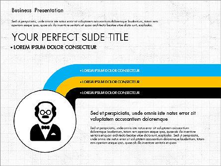 Presentation Templates: フラットデザインでの会社紹介 #03330